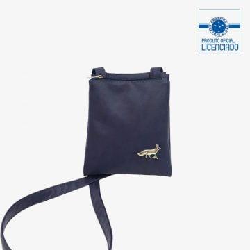 bolsa azul balada produto oficial licenciado cruzeiro frente