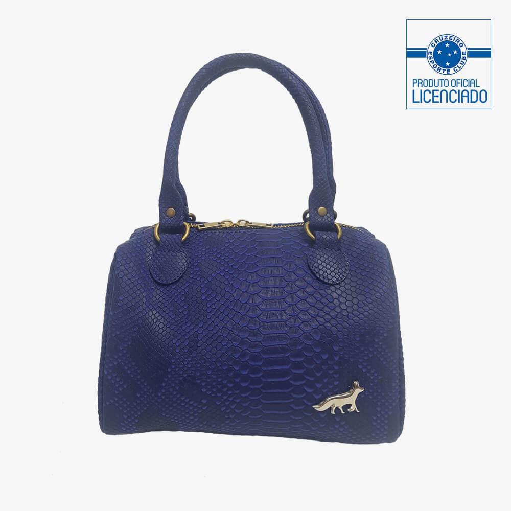 f5c82360bd4c2 bolsa azul textura croco produto oficial licenciado cruzeiro frente