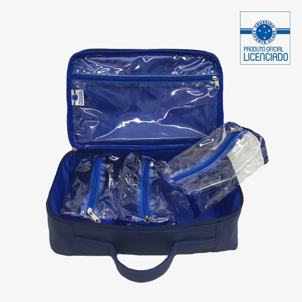 926ecbec75f9d maleta azul material sintetico produto oficial licenciado cruzeiro frente  interna
