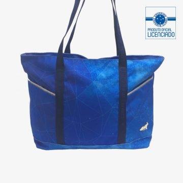 bag shop azul produto oficial licenciado cruzeiro costas frente
