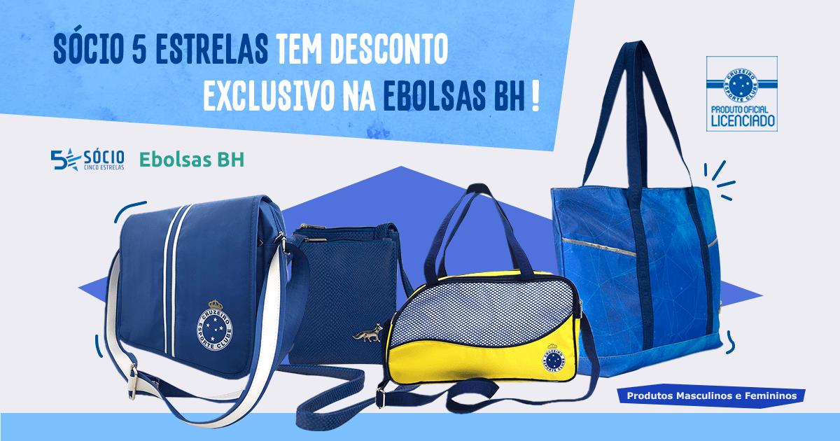 a6c646c66 Linha exclusiva de produtos licenciados do Cruzeiro - Ebolsas BH