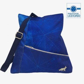 mochila feminina azul produto oficial licenciado cruzeiro f01