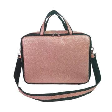 maleta térmica sabrina santos pink com glitter