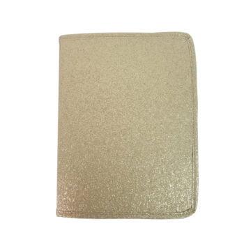 porta pincel europa dourado com glitter