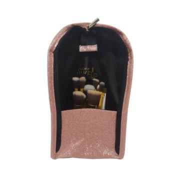 porta pincel london pink com glitter